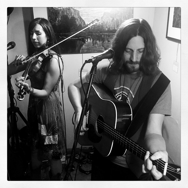 Live music with Ian at Dagny's. #socal #btown #livemusic