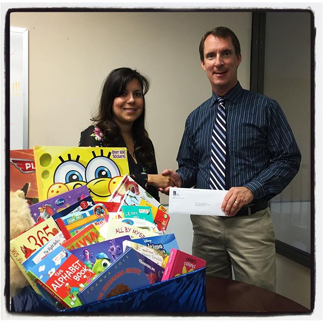 Thank you Rob Duchow and SoCalGas. Your kind donation will provide ten home libraries in Kern County. #liveunited
