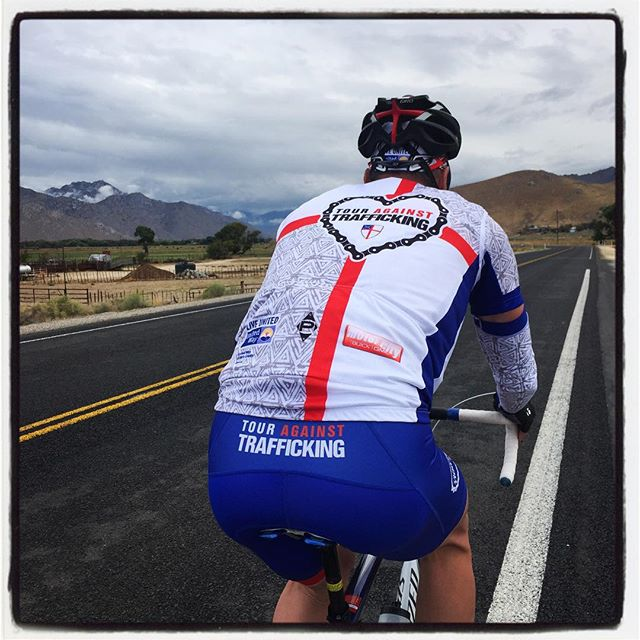 Climbing in the Sierras on the Tour Against Trafficking. #endHT #touragainsttrafficking
