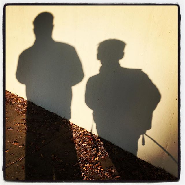 The LP and I walking to school. Thursday morning edition. #iphoneography #theiphonephotographer #SoCal
