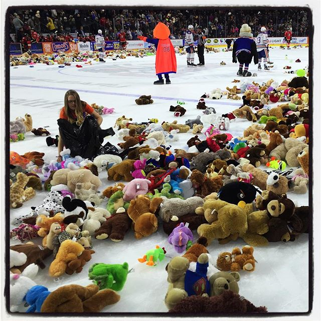 Teddy Bear Toss 2015 in the books. Condors and United Way of Kern County partnering up. #teddybeartoss205