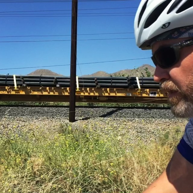 Freight train runnin' down the middle of my head. #bikelife #SoCal #california