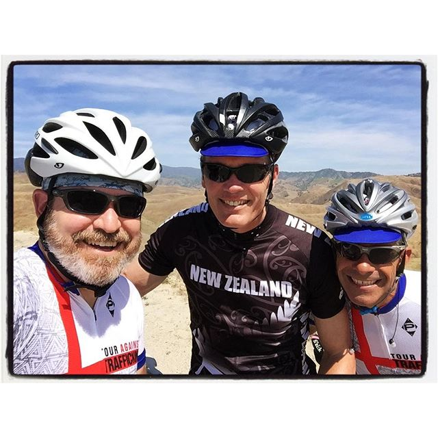 Hey, 'We are talking about getting the band back together.' ;) #bikelife #touragainsttrafficking #mile3