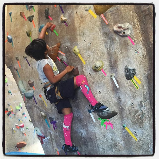 Someone had #madsoxgame. Heads up @zacallyn ;) #girlpower #climblikeagirl #socal #soxgame