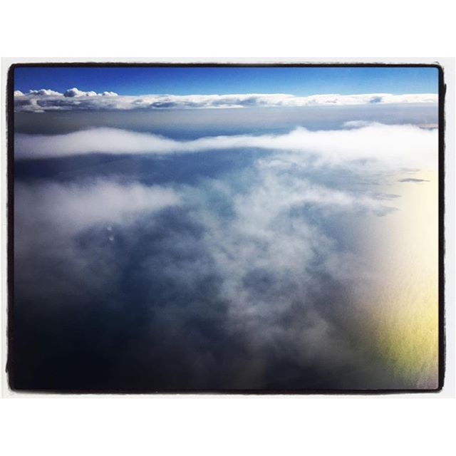 Clouds and Lake Michigan. #iphoneography #theiphonephotographer