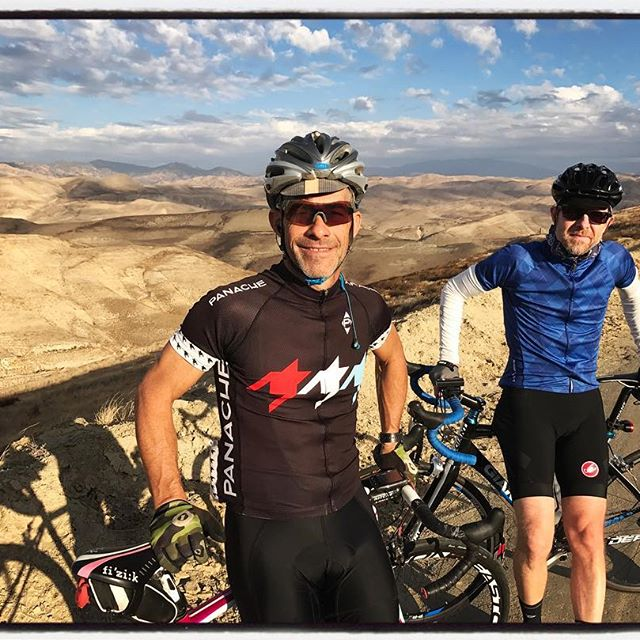 Top of Round Mountain during a Tour Against Trafficking Team Ride w/ @zacallyn and @gsenns ! #touragainsttrafficking #ridewithpanache #mile3 #endhtnow