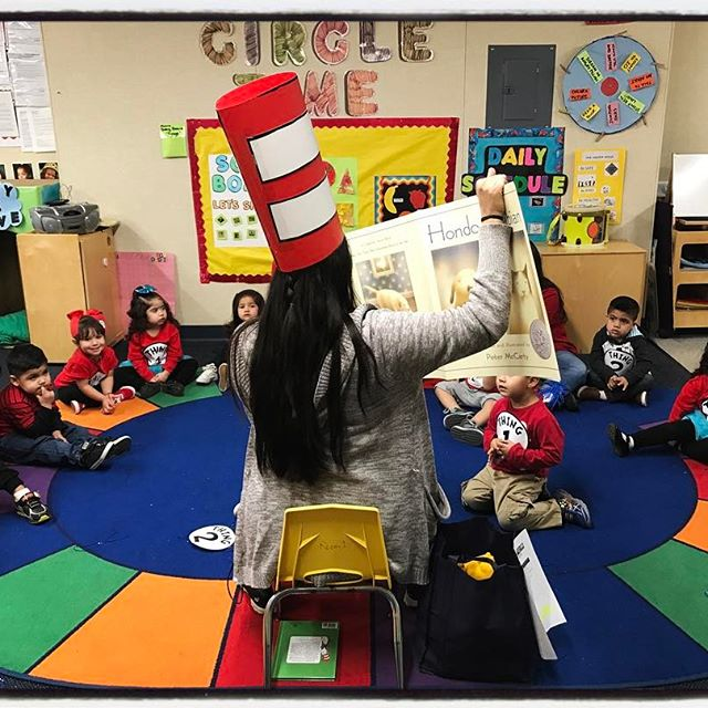 Happy Birthday Dr. Seuss! It is Read Across America Day, at Edison Preschool in Bakersfield. #ShareAStory #liveunited