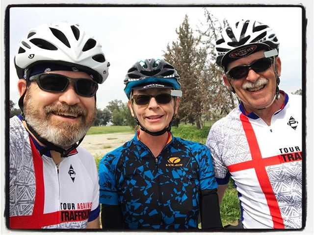 Tour Against Trafficking 'team' ride w/ good friends. #touragainsttrafficking #bikelife #mile3