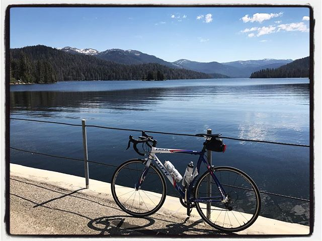 Huntington Lake after a pitchy ride. #bikelife #mile3 #touragainsttrafficking