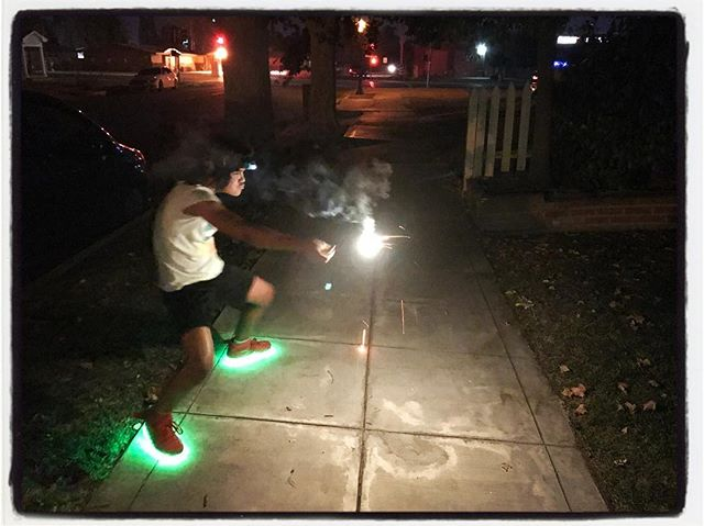 Sparkler fun on the 4th! #dadlife #4thofjuly #weholdthesetruths