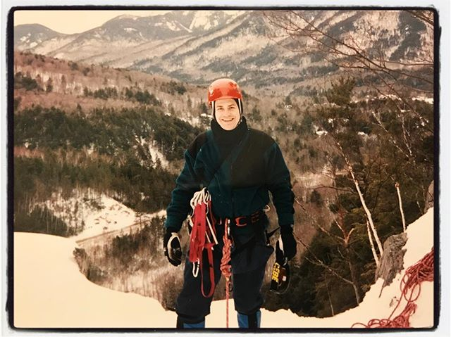 Found this in the 'way back machine' tonight. Ice climbing in the High Peaks of up-state New York. #iceclimbing #hardcore #waterfall