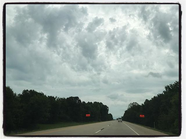Storm clouds in Oklahoma. #roadtrip #headed2olemiss