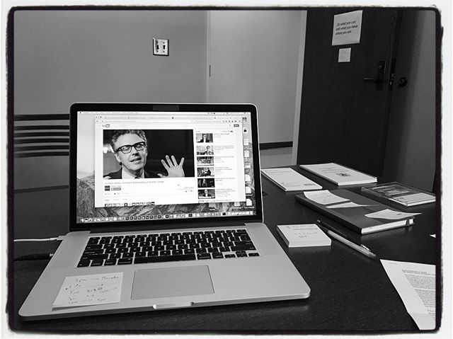 Prepping for JOUR Multimedia Storytelling w/ Ira Glass. #olemiss #meekschoolofjournalismandnewmedia #proflife