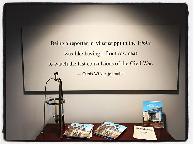 I wonder how we think about this quote in the context of our present? #olemiss #meekjourno #1stdraftofhistory