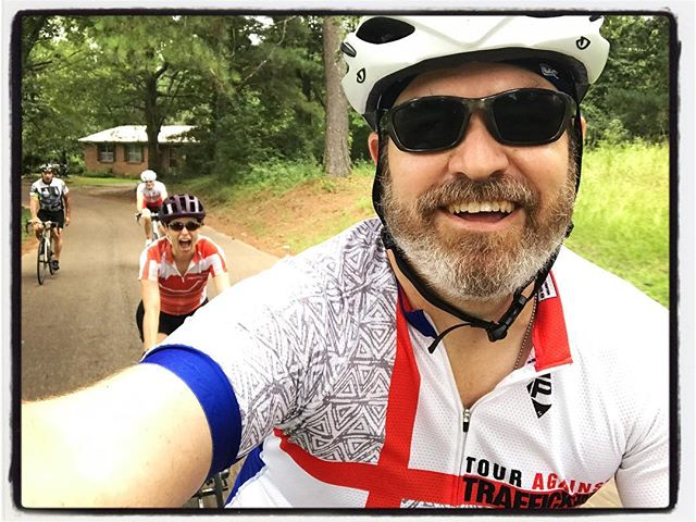 Getting in a nice, quiet morning ride w/ the B Team in northern Mississippi. #bikelife #touragainsttrafficking