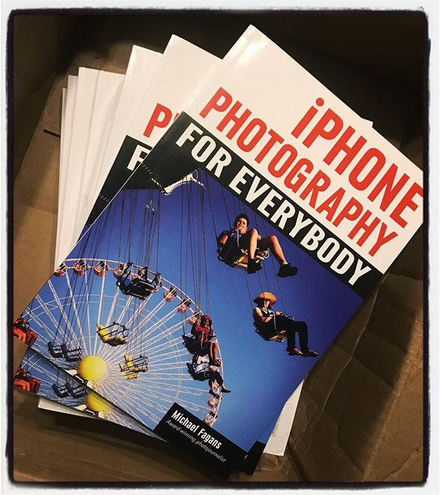 Wow. Book number two arrived at this house this weekend. Thanks Amherst Media! You can order copies today at https://www.amazon.com/iPhone-Photography-Everybody-Michael-Fagans/dp/1682032906/