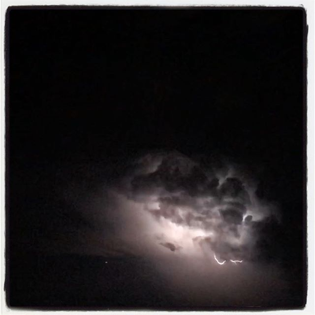 Cloud lightning on the way home. #dadlife #iphoneography