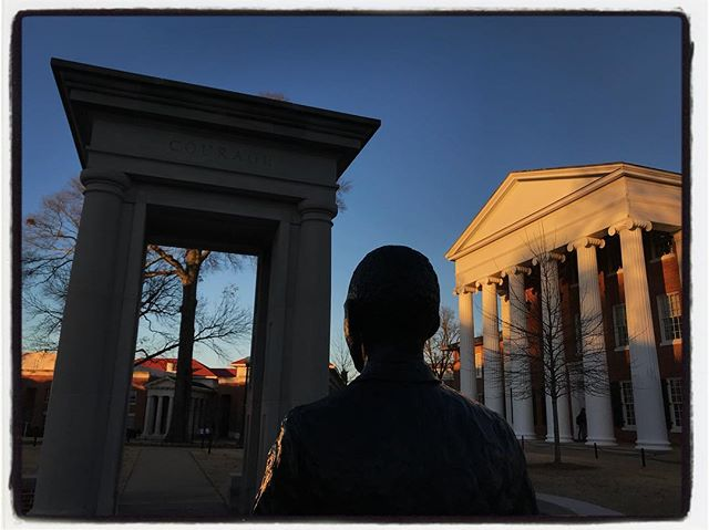James Meredith strides between the library and the Lyceum on the University of Mississippi. #meekjournalism #meekjourno #firstweekback