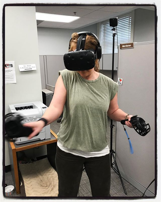 VR mobile lab at the Meek School of Journalism and New Media. #meekjournalism #meekjourno