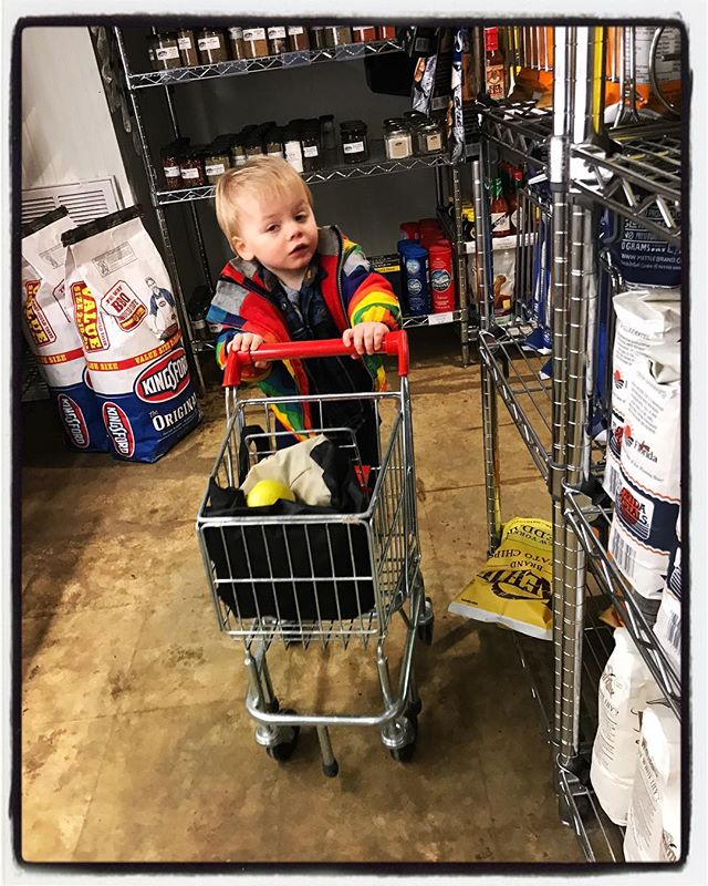 Some children are very serious about their food shopping. #dadlife #chicorymarket #oxfordlife