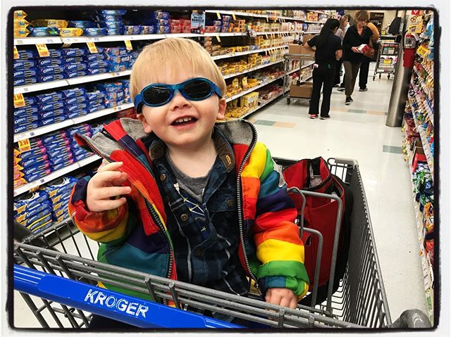Some kids are too cool for shopping. #dadlife
